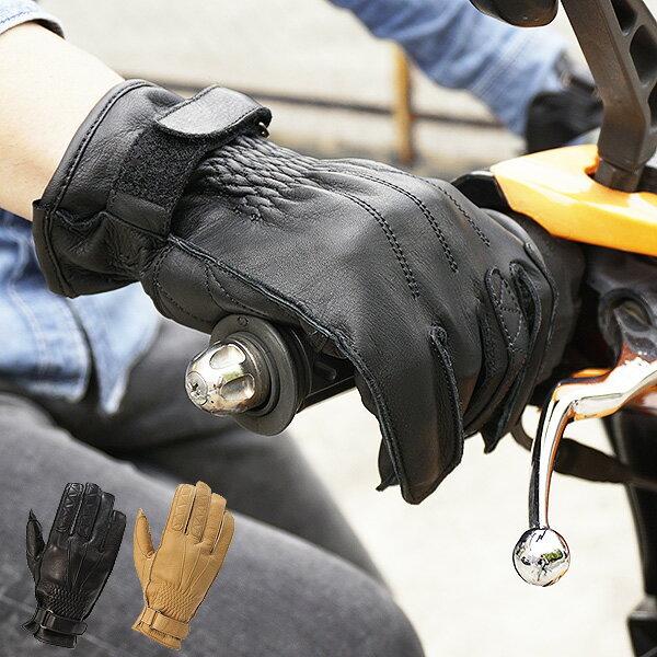 バイク用 牛革 オールシーズングローブ スマートフォン対応 JaCrew ジェイクルー KD-0202 [2カラー/3サイズ]メンズ 男性用 オートバイ 手袋 グローブ 本革 牛皮 通勤 通学 黒 キャメル