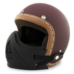 【フェイスガード付きセット】スモールジェットヘルメット ハンドステッチ仕上げ NEO VINTAGE SERIES VT-11 AMERICAN VINTAGE KOR クロス [バーガンディ×ブラック]FREEサイズ(57-60cm未満) メンズ レディー