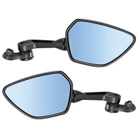 タナックス TANAX ナポレオン シャークミラー1B AOS-10410Bブラック ハウジング × ブルー鏡 取付ネジ径10mm 新保安基準適合 [左右セット]CB1300 CBR1000RR VFR800F CBR600RR ZRX1200 DAEG XJR1300 YZF-R1 FZ1 MT-09 TMAX HAYABUSA 隼 GSX-S1000F等
