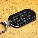 ネックレス ペンダント オリジナル 刻印 ステンレス ドッグタグ Stainless Dog Tag ブラックタイプ IDプレート