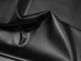 合皮 ストレッチレザー生地 黒(ブラック)100×10cm [CL-01 C10]