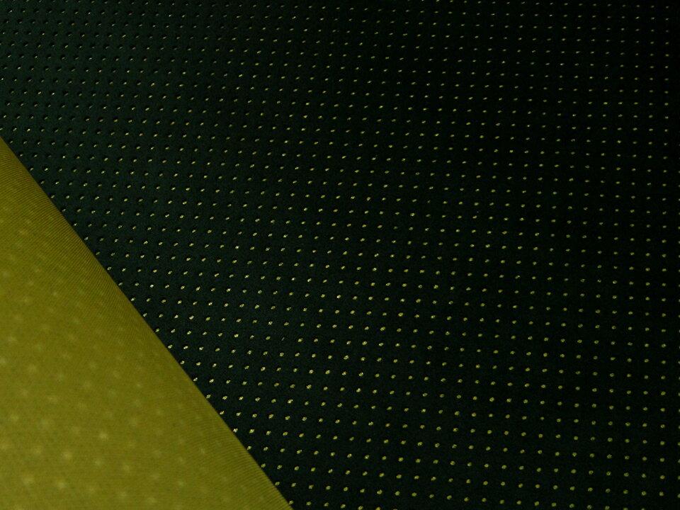 東レ エクセーヌ(アルカンターラ)人工皮革 スエード生地【パンチング 黒(マスタードの裏張あり)】[ECS-PAN-BLACK2]