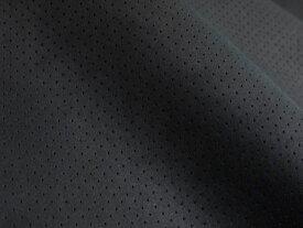 ※難あり※最上級 スエード調生地 人工皮革 日本製 【黒〜ダークグレー パンチング(裏張り:青)】130×30cm(大手メーカーアウトレット品) [ECS-PAN-BLACK-UBL C30-N]
