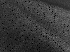 東レ エクセーヌ(アルカンターラ)人工皮革 スエード生地【黒〜ダークグレー パンチング(黒の裏張あり)】[ECS-PAN-BLACK]