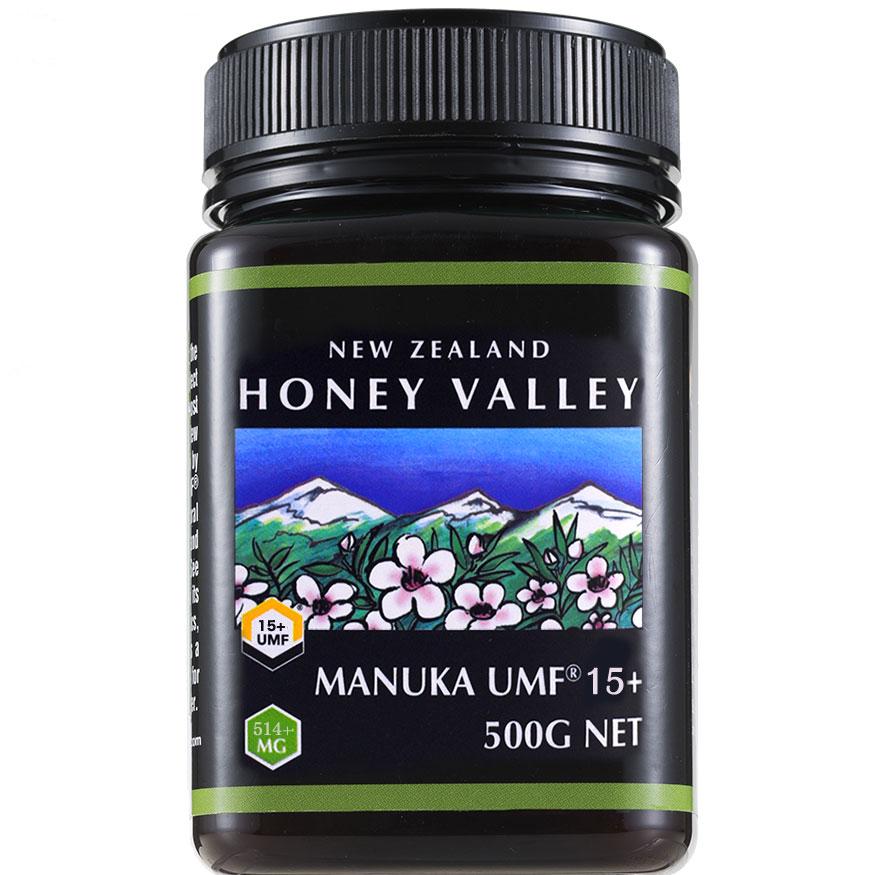 【マヌカハニー】【アクティブ マヌカハニーUMF 15+ *500g MGO514〜828相当】★ 無農薬・無添加ニュージーランド天然蜂蜜/はちみつ/ハチミツハニーバレー社(100% Pure New Zealand Honey)社 マヌカ【HLS_DU】【RCP】