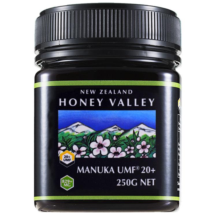 【4月上旬〜中旬より順次出荷予定】【マヌカハニー】【アクティブ マヌカハニーUMF 20+ *250g MGO829以上】無農薬・無添加ニュージーランド天然蜂蜜/はちみつ/ハチミツハニーバレー(100% Pure New Zealand Honey)社 マヌカ【HLS_DU】【RCP】