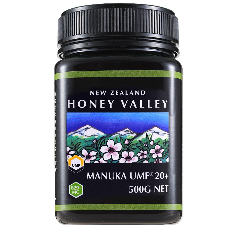 【4月上旬〜中旬より順次出荷予定】【マヌカハニー】【アクティブ マヌカハニー UMF 20+ *500g MGO829以上】★無農薬・無添加ニュージーランド天然蜂蜜/はちみつ/ハチミツハニーバレー社(100% Pure New Zealand Honey)社 マヌカ【HLS_DU】【RCP】