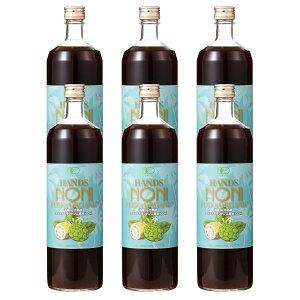 ノニジュース ★ [ハンズ ノニ]有機JAS認定3ヶ月熟成 ノニジュース 100% 900mlボトル 6本セット ★健康食品[ノニ 酵素][ノニ 100%原液][HLS_DU][RCP]
