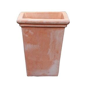 植木鉢 テラコッタ鉢 素焼き鉢 トールカメリア スクエア VT74N-30 30×30×H37 11.4kg (9030549)送料別 通常配送(118k)