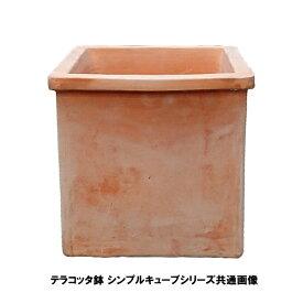 植木鉢 テラコッタ鉢 素焼き鉢 シンプルキューブポット T107-30 30×30×30 12kg (7094400) 送料別 通常配送