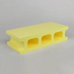 スチロールブロック / 発泡スチロール ブロック イエロー サイズ:390×190×100mm 118060 送料別 通常配送(160k12) / レンガ レンガブロック