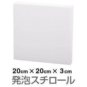 発泡スチロール ブロック 白 ホワイト 200×200×30mm