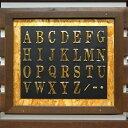 真鍮文字 ブラスレター大文字 5cm アルファベット A〜N送料別 通常配送