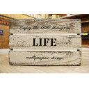 収納ボックス / 木箱 木製 ボックス 収納箱 ウッドボックス ホワイト WD3824-WH 幅38cm×奥行26cm×高さ24cm 4804139 …