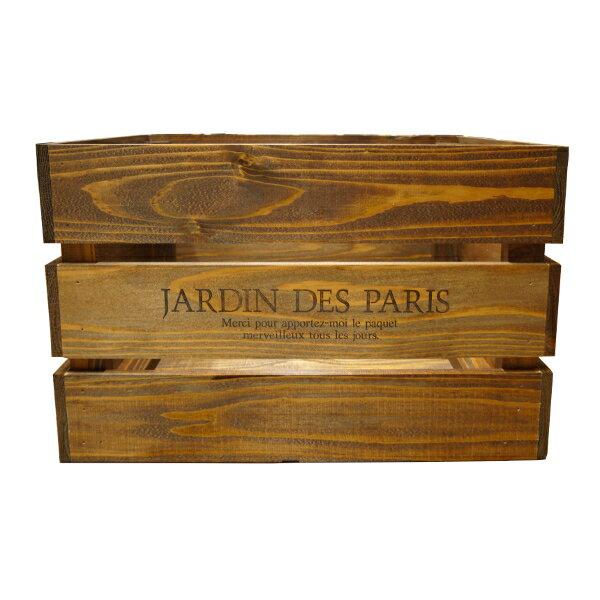 アンティークボックス 大 ブラウン 450×300×280 木箱 木製ボックス 収納箱 (9210377)【送料別】【通常配送】【113k】