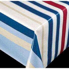 テーブル クロス / テーブルクロス ブリリアントシリーズ ストライプ ブルー 60757 幅:140cm 10cm単位切売 商品番号:9699724送料別 通常配送 / 切り売り