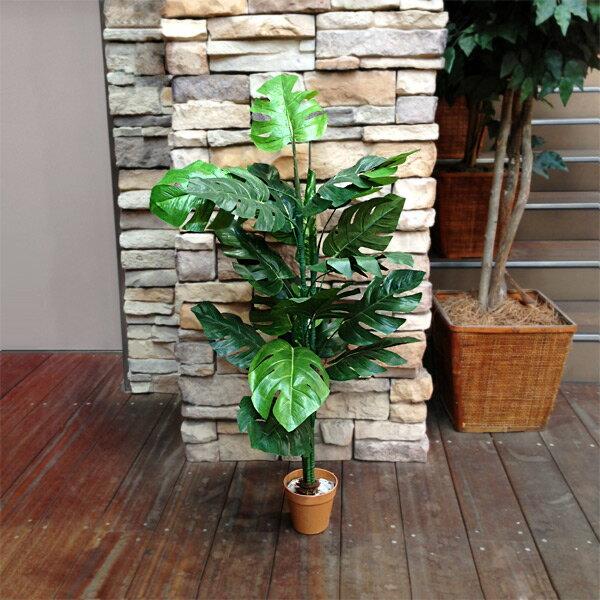 人工観葉植物 モンステラ 15998 高さ約95cm (9078916) 送料別 通常配送 (140k5)