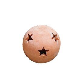 素焼きのオブジェ 素焼きオーナメント スターボール 15 約15cm (7094531)送料別 通常配送
