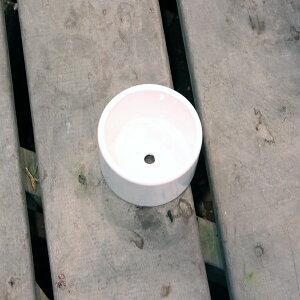 陶器鉢陶器鉢植木鉢丸/ホワイトポット丸型Sサイズ直径9cm×高さ9cm底穴あり白陶器鉢化粧鉢円柱園芸ガーデニング8905452送料別通常配送