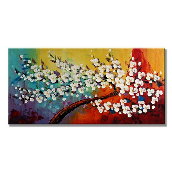 【モダン油絵工房】 油絵 現代絵画 インテリア 壁掛け 手書きモダン油絵 ナチュラルライン 木C 2FAE-100 120×60cm