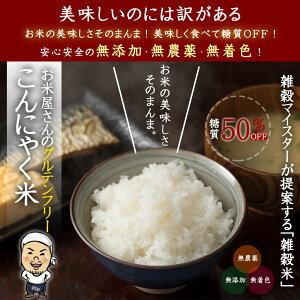 雑穀 雑穀米 国産こんにゃく米(乾燥) 1kg(500g×2袋) 雑穀米 ベジタリアン ビーガン 栄養食 雑穀米 雑穀