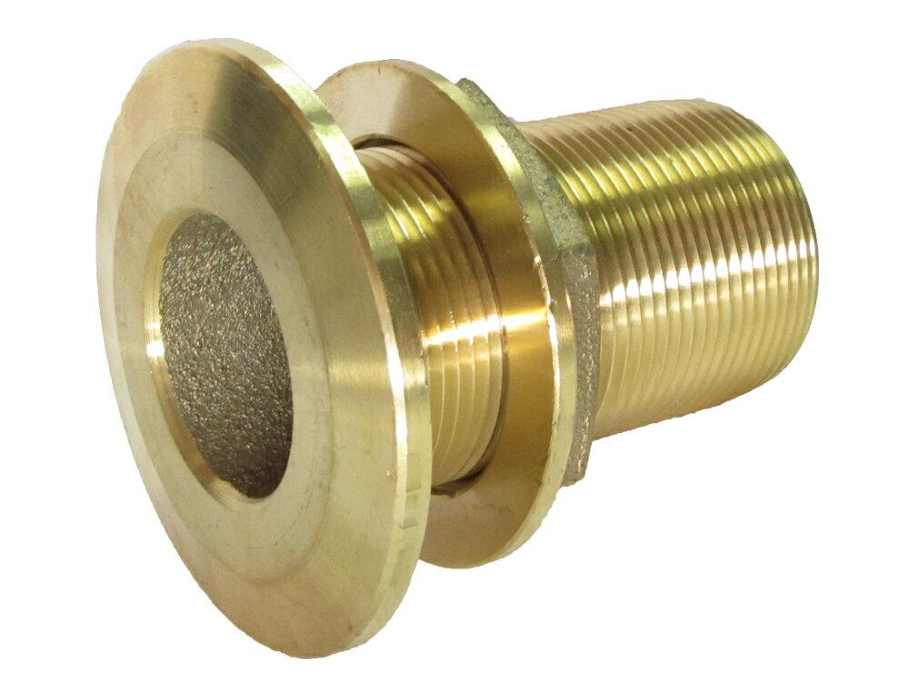 真鍮 スルハル1-1/2インチ (40A)ネジ外径 48.6mm