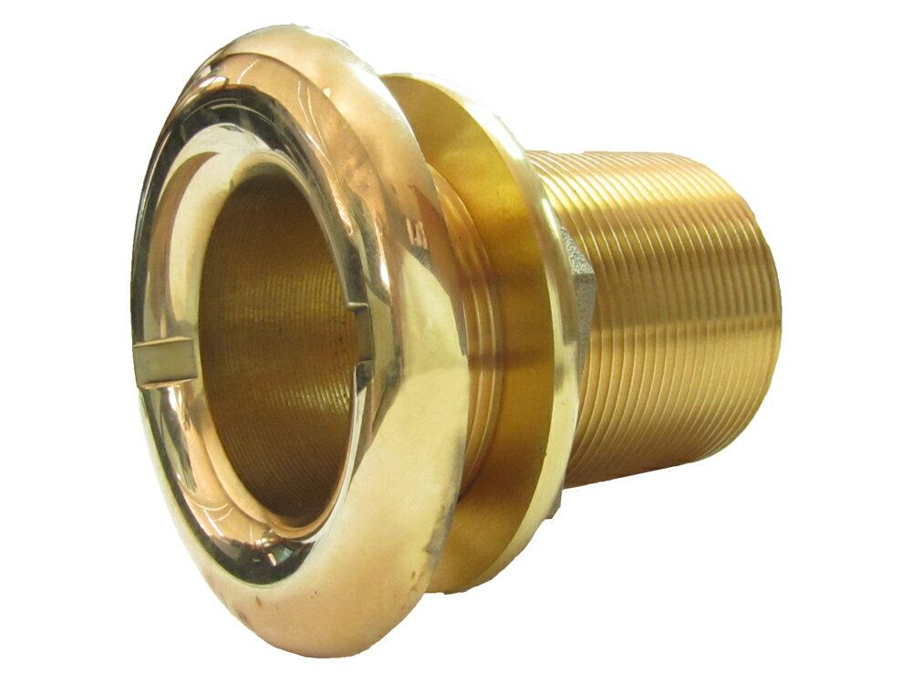 真鍮 スルハルコネクション 2インチ ネジ外径 60.5mm