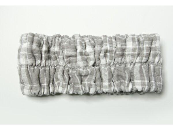 【日本製・今治】柔らかガーゼパイルオーガニック!ハネル オーガニックパイルチェックガーゼ ヘアーバンド organic pile gauze check hairband