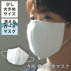 マスク 日本製 少し大きめサイズ 大判 今治 森のマスク 公式通販 おやすみ 洗って使える エコなマスク 【 ガーゼ 洗える 寝るとき 大きめ 大き目 洗濯 風邪 乾燥 予防 対策 吸水 保湿 今治 就寝 綿 大人 大人用 】