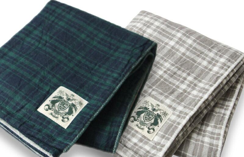 【日本製・今治】サラッとふっくら!ハネル オーガニックパイルガーゼ チェック バスタオル organic pile gauze check towel