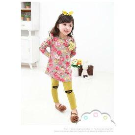 ワンピース 韓国子供服 コサージュ付き♪花柄がとっても可愛いチュニック【i-cozi】