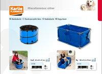 【ドイツKARLIE】ドイツKARLIE社製小型犬用簡易バス。専用のキャリングケースにコンパクトに収納できます。ドギーシャワークイックウォッシュ小〜中型犬用【お散歩ドライブアウトドアお出かけプール】