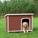 【ドイツTRIXIE】新発売!屋外用犬小屋!ドイツTRIXIE ナチュラドッグケンネルフラットルーフ ダークブラウン L【犬小屋 ハウス 屋外 ドッグハウス】