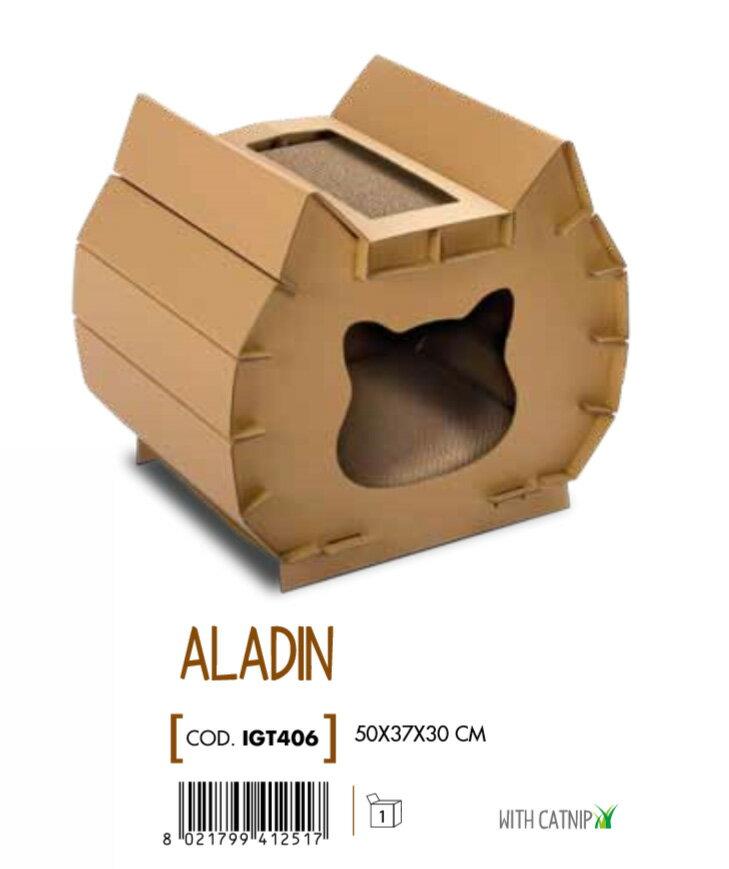 【イタリアIMAC】新発売!猫ちゃんの好奇心をくすぐるおしゃれな爪とぎができました!イタリアIMAC キャットスクラッチ ALADIN【猫タワー 爪とぎ プレイボックス ネコタワー ネコトイレ 猫トイレ ネコノミクス 猫カフェ】