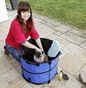 【ドイツKARLIE】ドイツKARLIE 小型犬用簡易バス。専用のキャリングケースにコンパクトに収納できます。ドギーシャワー クイックウォッシュ小〜中型犬用【お...