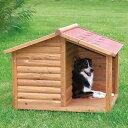 ※再入荷!9月1日【ドイツTRIXIE】新発売!屋外用犬小屋!ドイツTRIXIE ナチュラドッグケンネルサドルルーフ ブラウ…