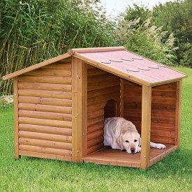 ※再入荷しました※【ドイツTRIXIE】屋外用犬小屋!ドイツTRIXIE ナチュラドッグケンネルサドルルーフ ブラウン Lサイズ(箱リニューアルにつき、M-Lと記載されていることもございます、サイズは変わりません)【大型犬】