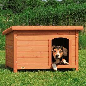 ※再入荷4月1日前後です※【ドイツTRIXIE】新発売!屋外用犬小屋!ドイツTRIXIE  ナチュラドッグケンネルフラットルーフ ブラウン M【犬小屋 ハウス 屋外 ドッグハウス】