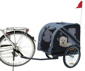 【ドイツKARLIE】耐荷重40kgまで!ドイツKARLIE社製バイクトレーラー ドギーライナーバイシクルエコノミー グレー×ブラック【ペットカート お散歩 ドライブ アウトドア ドギーライド