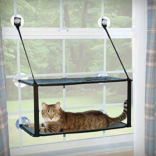 ※再入荷、テレビで紹介されました商品です※【K&Hペットプロダクツ】猫窓用ベッド ウインドウベッド ダブルスタックEZウインドウマウント 【猫ハウス キャットハウス 保護猫】