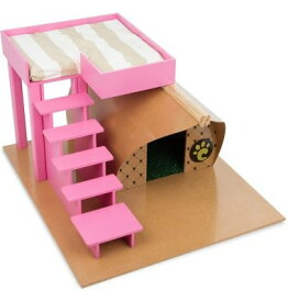 【Carlu Pet House】犬小屋 ブラジルCarlu Pet House ドッグハウス ファームラグジュアリードッグハウス ピンク 【犬小屋 ドッグハウス】