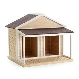 ※2室にできます!【Boomer & George 】犬小屋 アメリカBoomer & George  ドッグハウス デュプレックスドッグハウス アンティークホワイト【犬小屋 大型犬 超大型犬 多頭飼い】