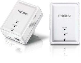 送料無料 PLCアダプター TRENDnet TPL-406E2K コンセントに差し込むだけ 有線パワーラインでインターネットを拡張