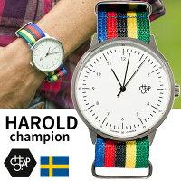 【送料無料】チーポCheapo腕時計HAROLDハロルドchampionチャンピオン14224OOナイロンストラップNATOBANDベルトスウェーデン北欧人気正規品メンズレディースユニセックス