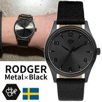 【送料無料】チーポCHEAPOCHPO腕時計ROGERロジャーレザーベルトメタル・ブラック14226EEストラップベルトスウェーデン北欧人気正規品メンズレディースユニセックス
