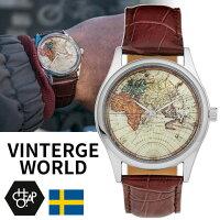 【送料無料】チーポCHEAPOCHPO腕時計vintageworldヴィンテージワールド14226BB地図mapレザーダークブラウンストラップベルトスウェーデン北欧人気正規品メンズレディースユニセックス