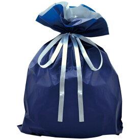 巾着袋 ネイビー 特大 50P 50-3660 | バッグ bag プレゼント ギフト 包装 梱包 誕生日 シンプル かわいい レジ 袋 ラッピング 包装資材 荷物入れ 買い物バッグ リボン ポーチ 無地 シンプル 単色 マチあり マチ付き バレンタイン ホワイトデー クリスマス イベント