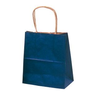 手提げバッグ 紺 特小 50-5912 | バッグ bag 紙バッグ 紙袋 手提げ袋 マチあり プレゼント ギフト 包装 梱包 誕生日 ギフト シンプル かわいい おしゃれ アクセサリー 小物 レジ 袋 雑貨 店舗 ラ