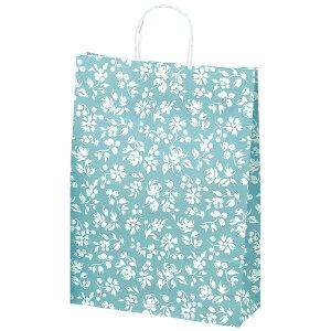 手提げバッグ カレン ブルー 大 50-5312 | バッグ bag 紙バッグ 紙袋 手提げ袋 マチあり プレゼント ギフト 包装 梱包 誕生日 ギフト シンプル かわいい おしゃれ アクセサリー 小物 レジ 袋 雑