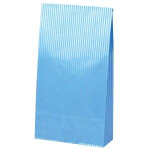 ギフトバッグ 角底袋 クリスタルブルー 50-3711 | バッグ bag 紙バッグ 紙袋 手提げ袋 マチあり プレゼント ギフト 包装 梱包 誕生日 ギフト シンプル かわいい おしゃれ アクセサリー 小物 レ